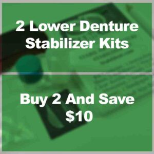 affordable way to secure lower denture